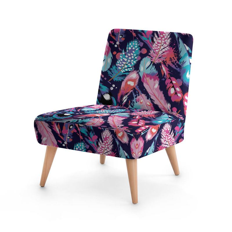 bespoke chairs with purple leaf design