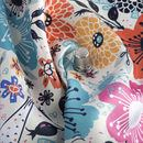 print Lucent Satin fabric folds