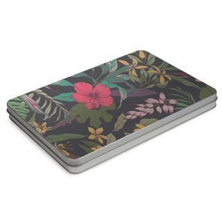 boite métal plate imprimé fleures