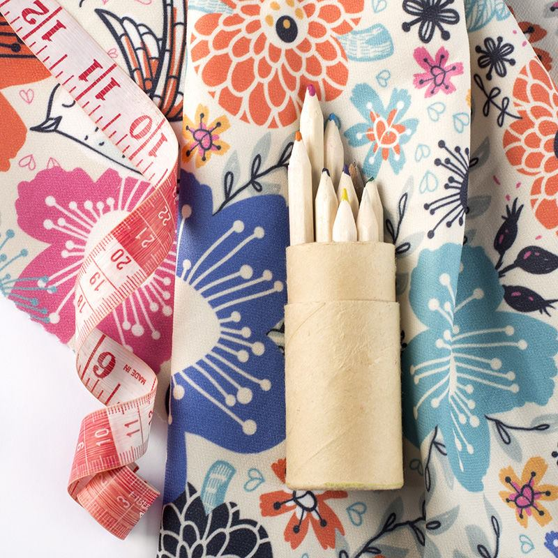 custom Cashmere fabric small print