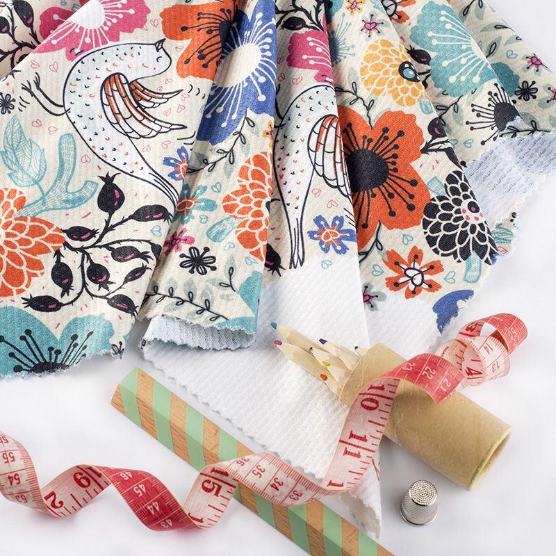 Impresión en Tela de Punto Piqué   Diseña tejidos Jersey