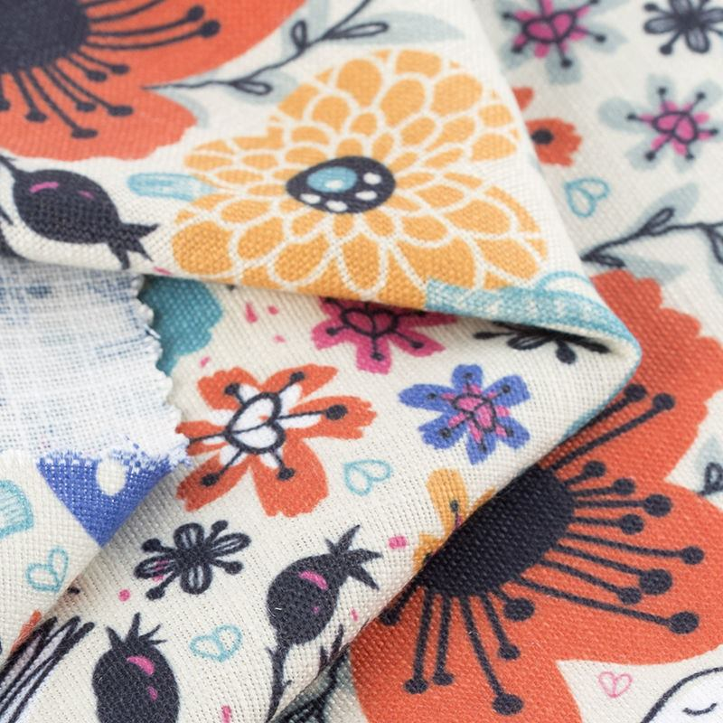 Custom Linen Printing Digital Printed Dorchester Linen