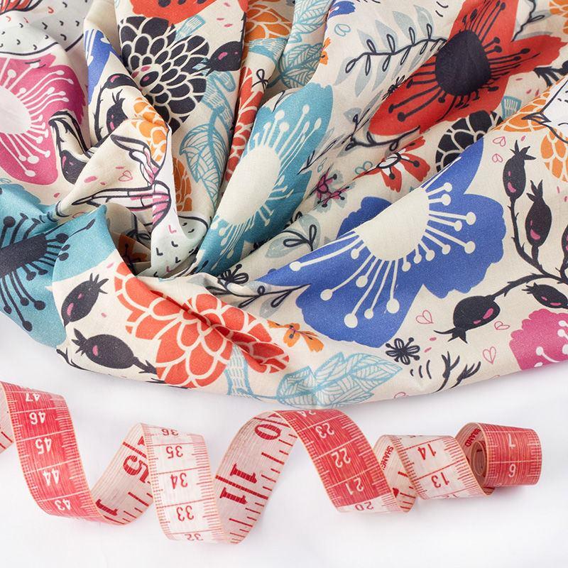 impression sur coton pima linon 100 naturel tissu imprim. Black Bedroom Furniture Sets. Home Design Ideas