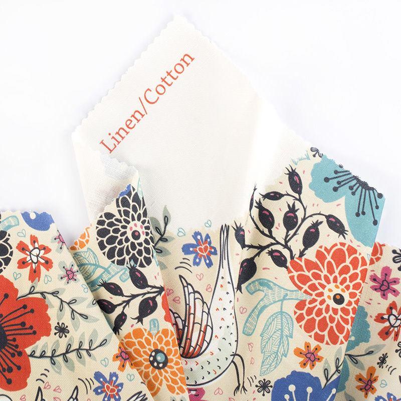 impression sur tissu naturel coton lin tissu personnalis. Black Bedroom Furniture Sets. Home Design Ideas