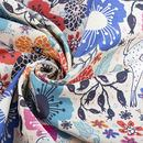 print Cotton Linen Blend fabric