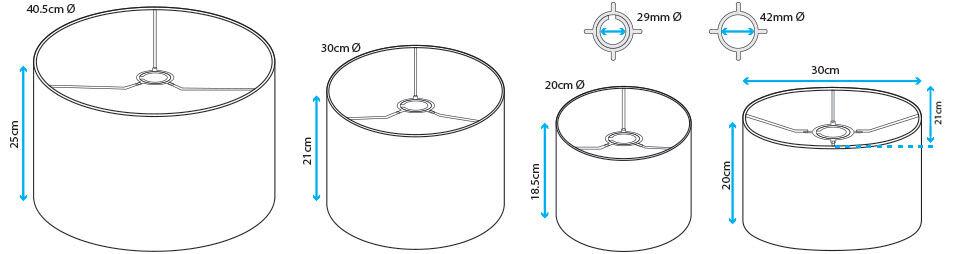 arredamento-paralume personalizzato misure in cm