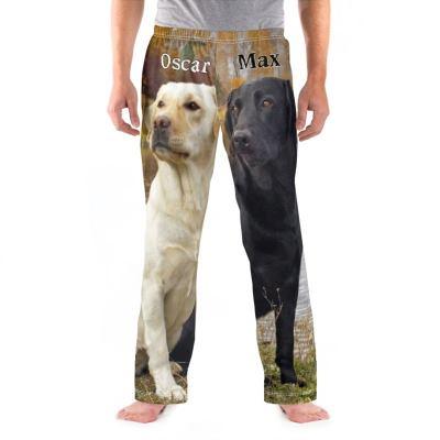 男性用パジャマズボン デザイン 印刷