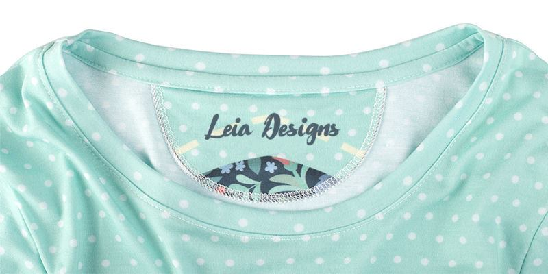 Ladies Long Sleeve T Label Design