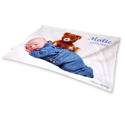 manta de bebé con foto