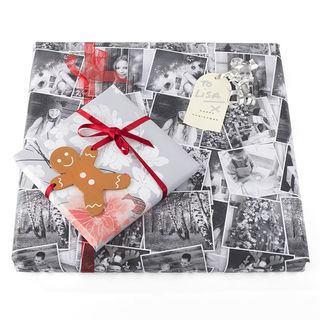 Personalised photo wrapping paper