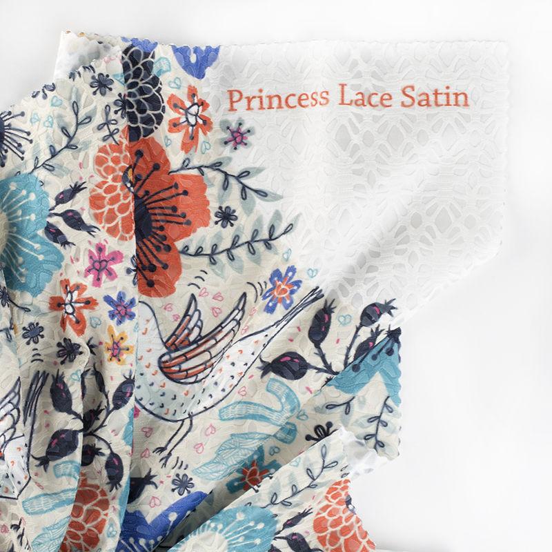 princess lace satin customised