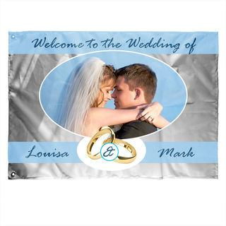personalised flags with text for wedding