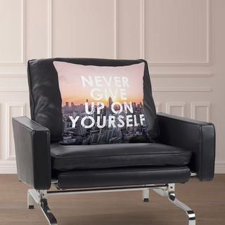 Cushion Motivational quote text and photo