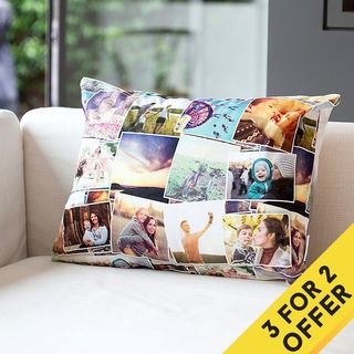 personalised collage cushion