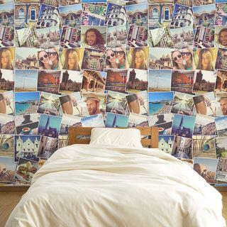 fototapete selbst gestalten fotocollagen auf tapete. Black Bedroom Furniture Sets. Home Design Ideas