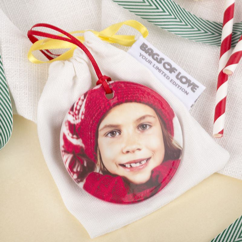 Personalised Christmas Ornament with gift bag