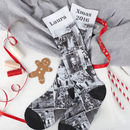 Personalised printed socks Christmas Photo Montage