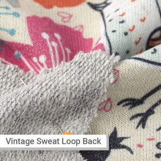 Vintage Loop Back Sweater fabric grey back