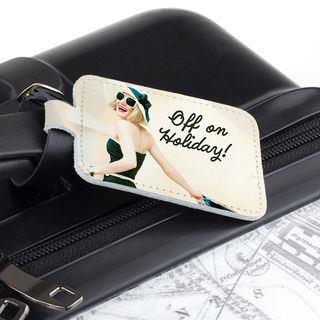 etichette bagaglio in pelle personalizzate