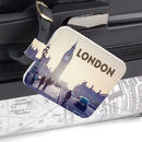 design your own custom luggage tags leather