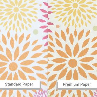 Custom print wallpaper quality paper difference