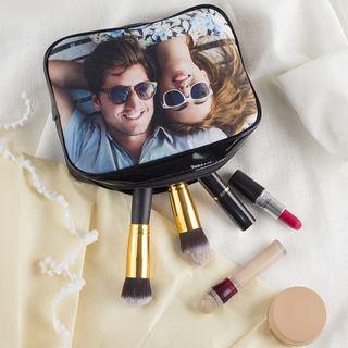 Trousse à maquillage avec photo de couple