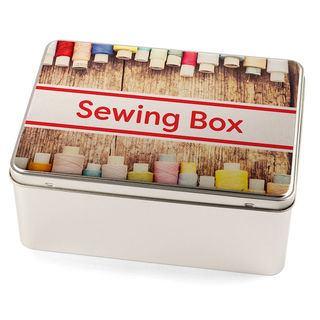sewing tin useful large deep