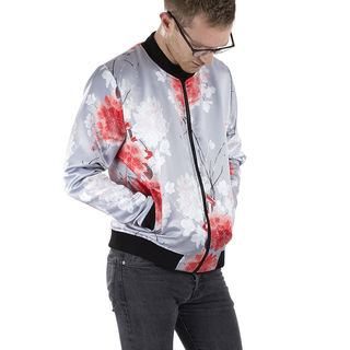 Satin Bomber Jacket customised