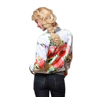 Floral Personalised Bomber Jacket