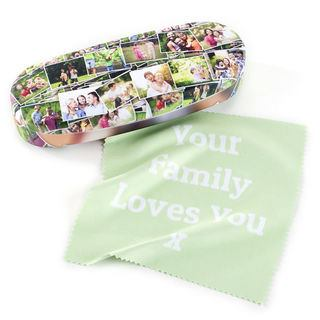 Glasses case with printed Cloth