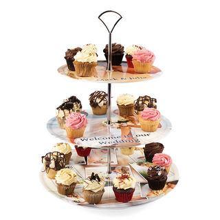 printed cake stand UK `cupcake