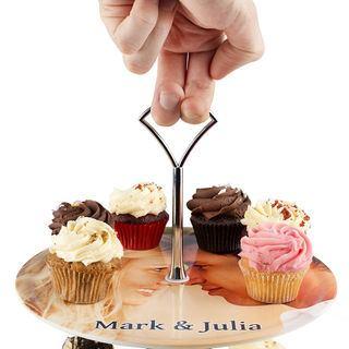 alzata per cupcake con foto