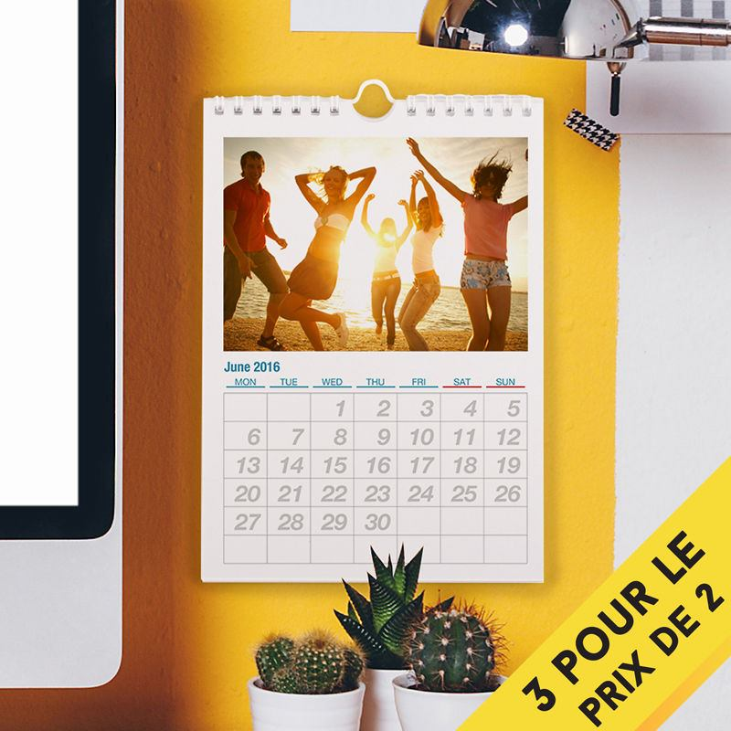 Calendrier mural personnalis format a5 calendrier photos for Calendrier mural gratuit