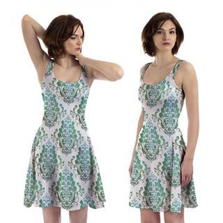 printed skater dress you design
