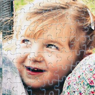 close up of personalised photo puzzles print quality