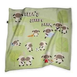 sleepy farm design comfort blanket