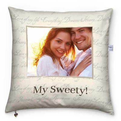 cuscino con grafica e foto personalizzate