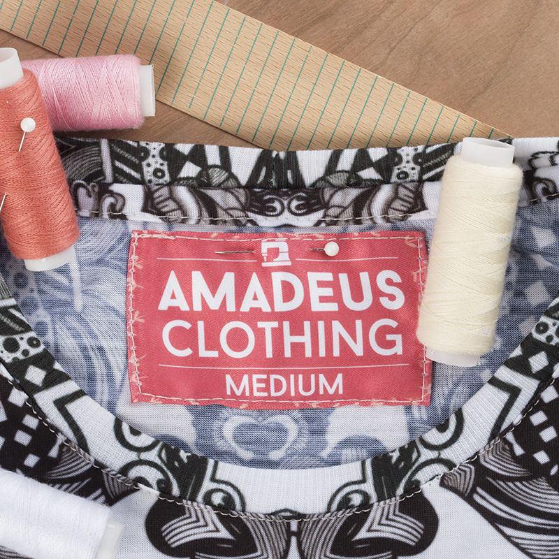 étiquette en tissu plate