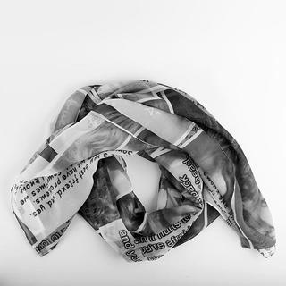 foulard imprimé photo montage