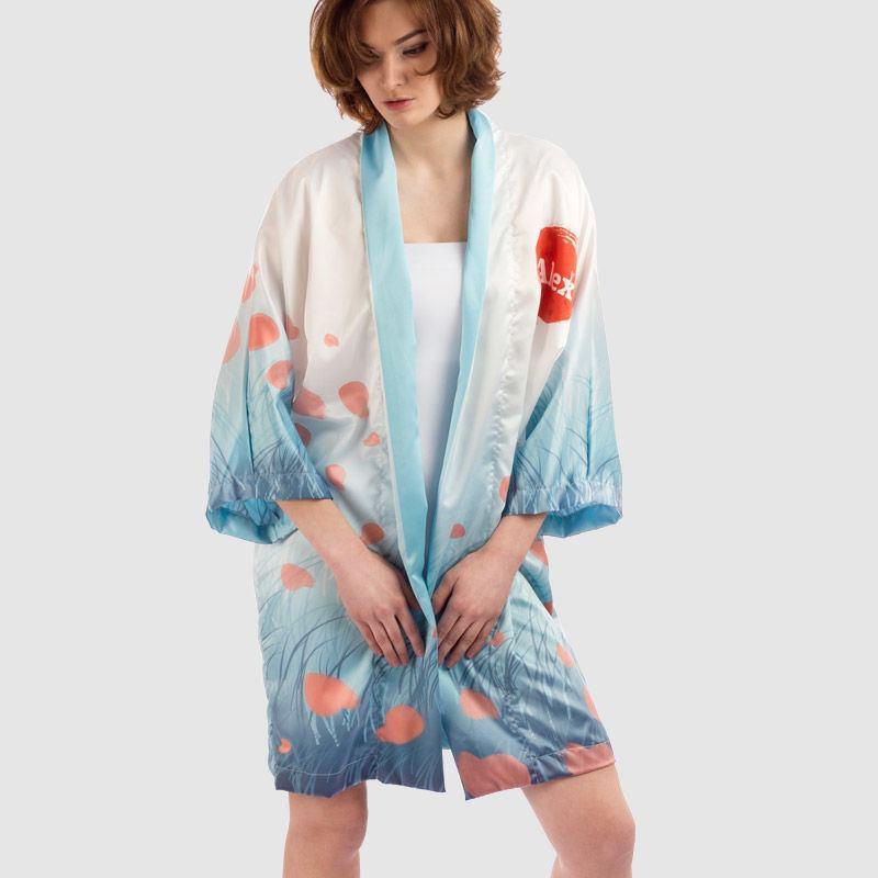 Personalised Kimono Dressing Gown. Custom Kimono With Photos