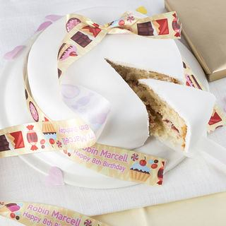 Brithday Cake personalised ribbon