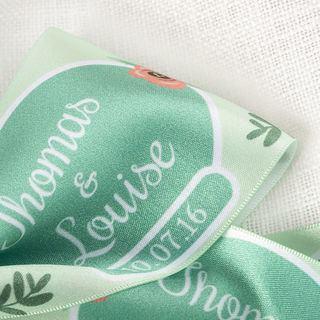 Ribbon Print Silk sheen