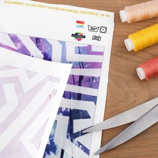 Transfer paper printed ink fabric