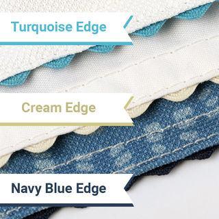 printable tea towel wavy edge texture ecru