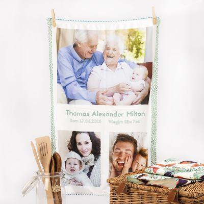 Torchon personnalisé pour fête des grands mères