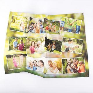 torchon imprimé avec photo montage
