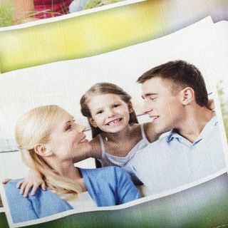 torchon personnalisé photo famille