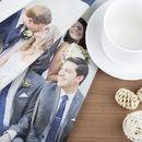 Torchon avec photo de mariage