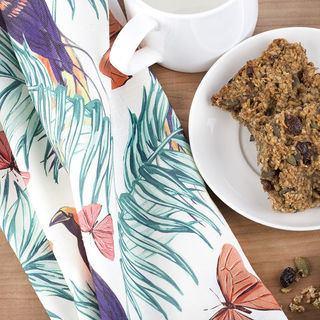 Pattern Tea Towel Cotton Linen Natural