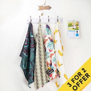 Personalised Tea Towels hanging home